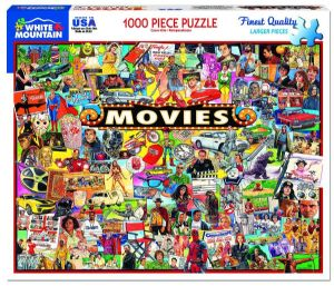 Movies 1000 piece jigsaw puzzle 760mm x 610mm  (wmp)